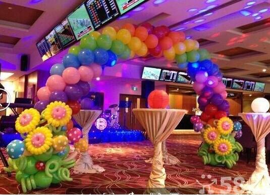 造型,签到桌气球布置 你想学习这种:极富创意和浪漫,可爱,温馨的气球